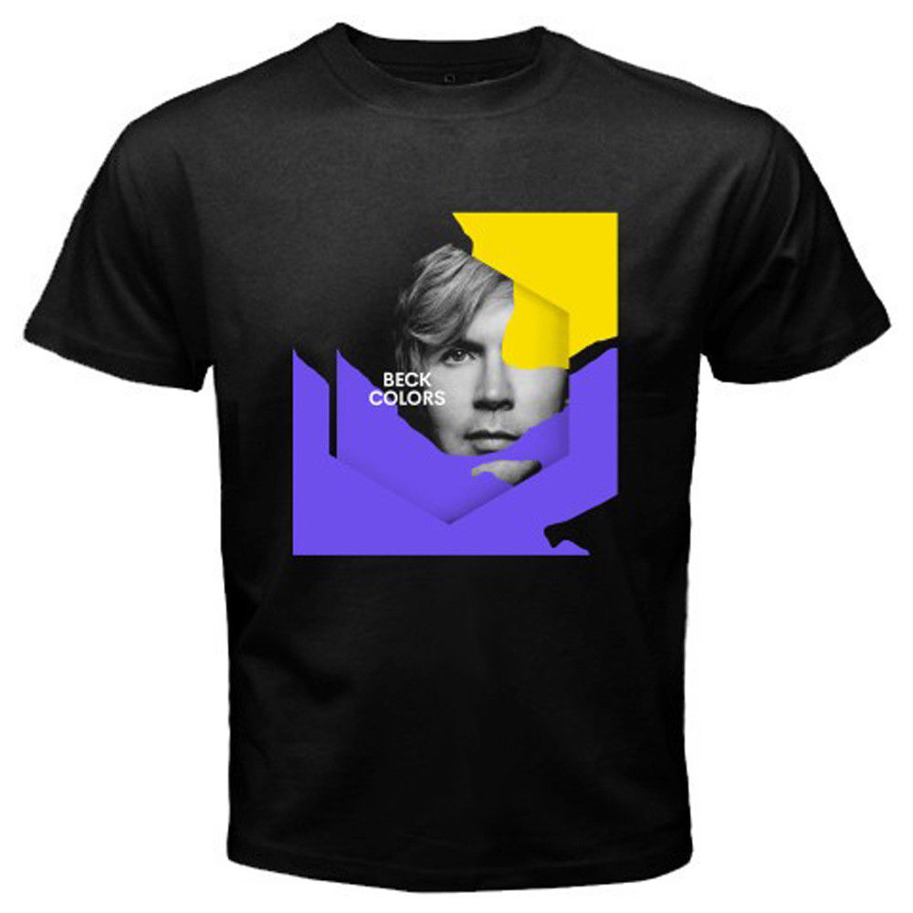 New BECK *Colors Album American Singer Mens Black T-Shirt Size S M L XL 2XL 3XL Chinese Style