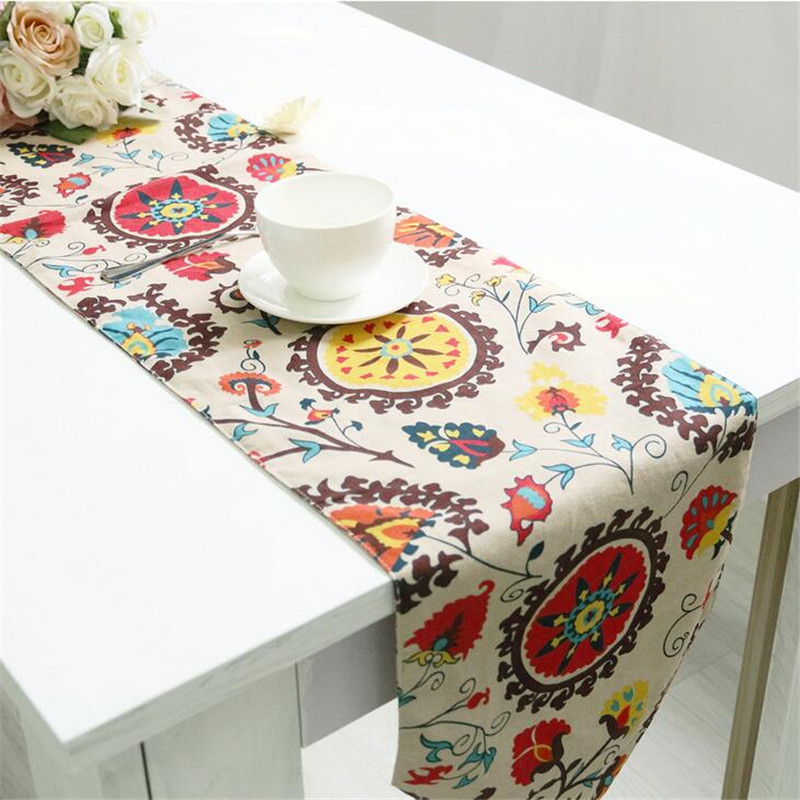 National wind explosion models cotton linen tablecloths Sun flower table cloth tablecloth Table Covers for Wedding Party Home 3