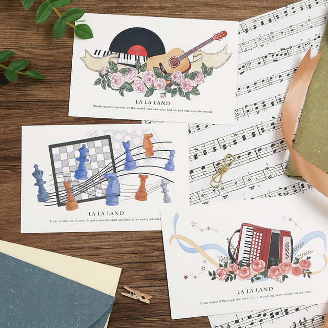 30pcs music in air card multi use as scrapbooking party invitation
