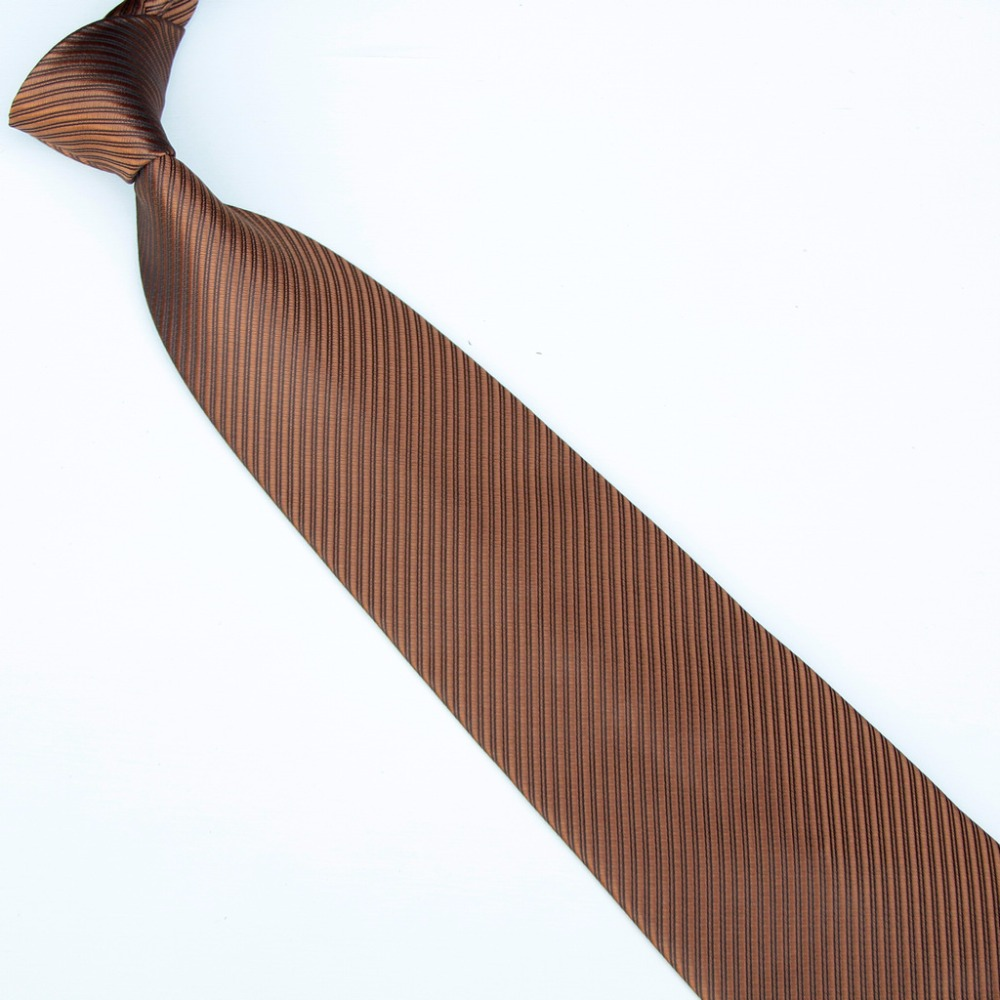 HOOYI 2018 fashion solid striped neck ties for men 19colors