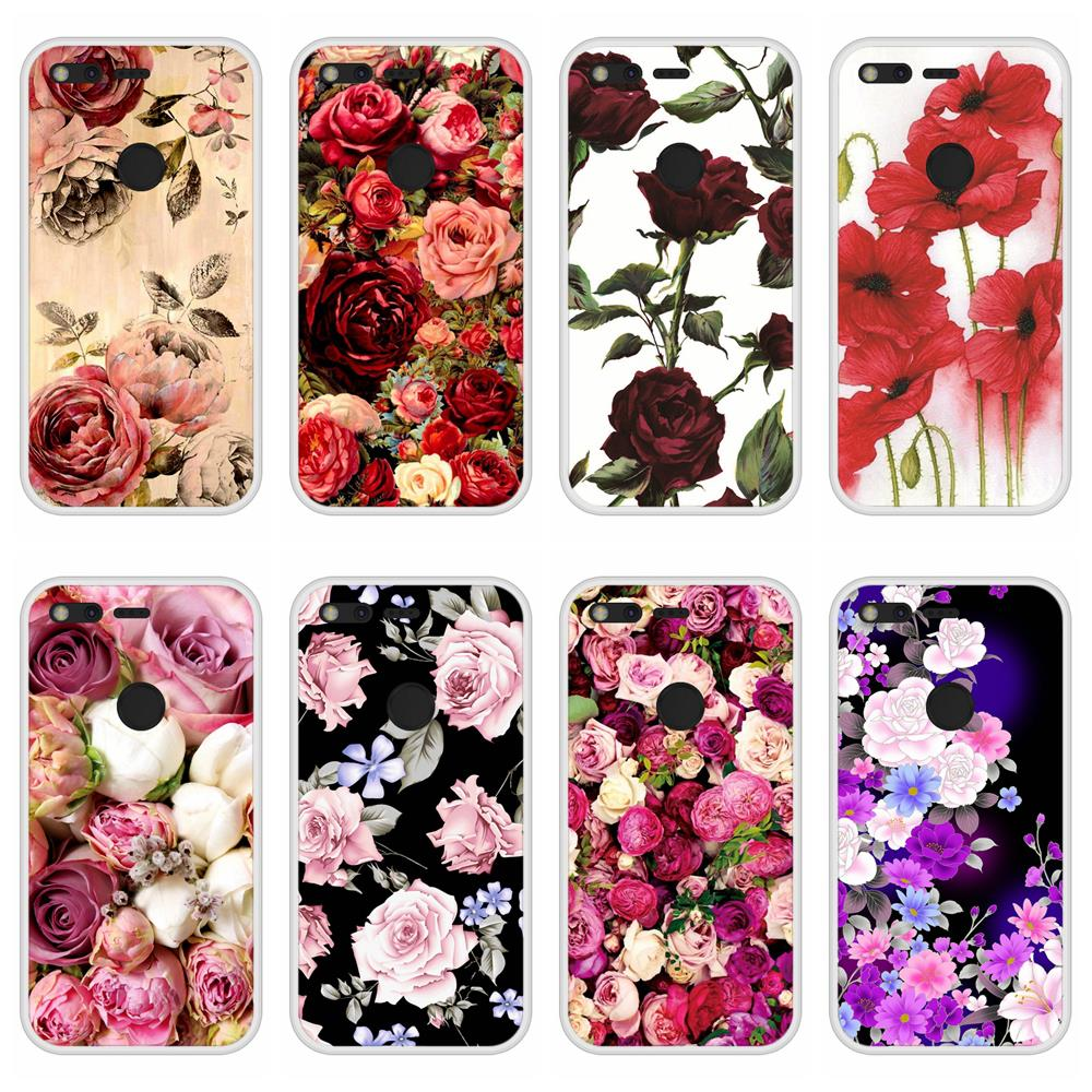 Case For Google Pixel XL Soft Silicone TPU Floral Flower Pattern Printed For Google Pixel XL Phone Case Cover