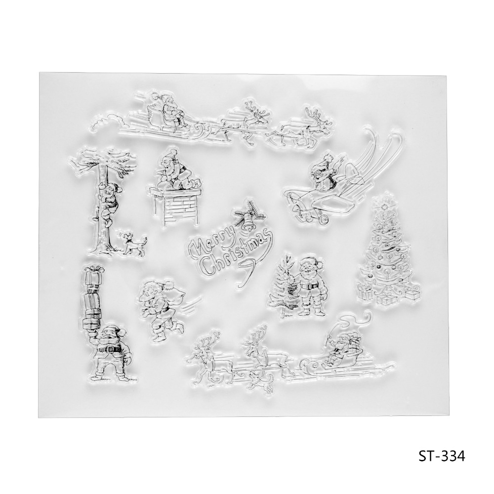 Santa Clause Elements Transparent Clear Silicone Stamp/seal for DIY Scrapbooking/photo Album Decorative Clear Stamp Sheets. lovely elements transparent clear silicone stamp seal for diy scrapbooking photo album decorative clear stamp sheets