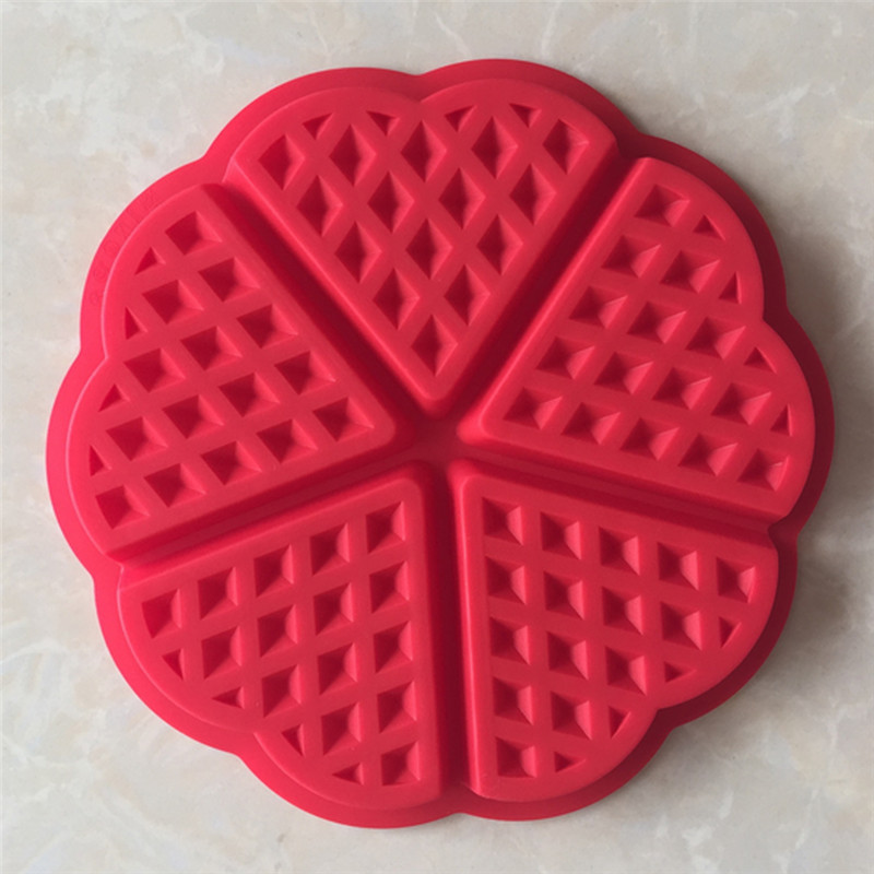 Image 4 - Silicone Waffle Mold Microwave Baking Cookie Cake Muffin Bakeware 2 Shape Mould Cooking Tools Kitchen Accessories Supplies-in Cake Molds from Home & Garden