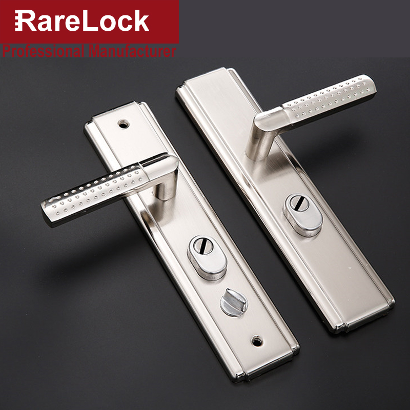 Rarelock MS532 Door Handle Set for Bedroom Living Room Bathrrom without Cylinder Home Secrity Hardware h 2pcs set stainless steel 90 degree self closing cabinet closet door hinges home roomfurniture hardware accessories supply