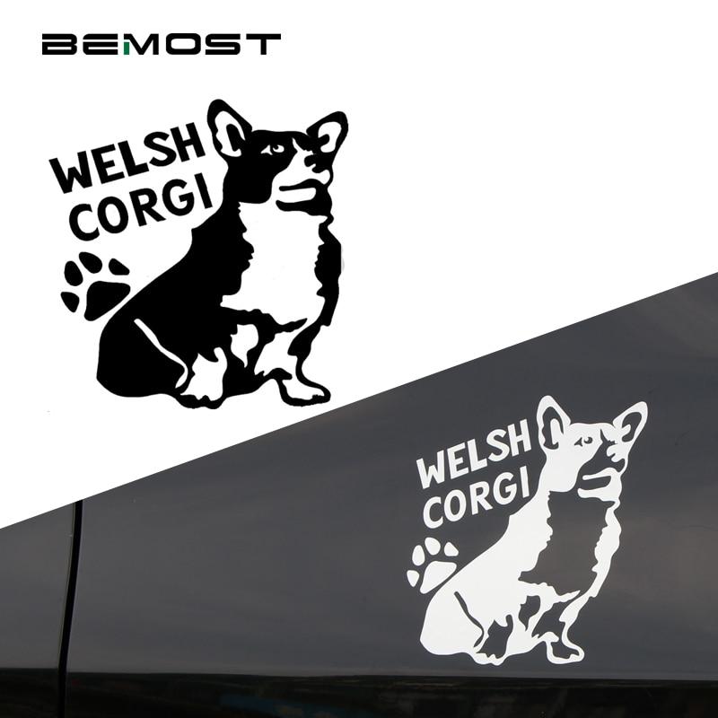 Bemost 5pcs/lot Car Styling Cute Welsh Corgi Pet Dog Sticker Welsh Pet Car Sticker Window Body Decals Auto Accessories