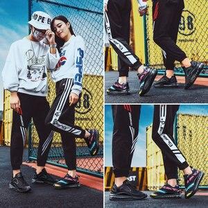Image 5 - X Hot Koop Paars Kleurrijke Star Luchtkussen Vrouwen Sneakers Air Trainers gym Paar Schoenen Comfort Elastische Race Vrouwen Schoenen casual