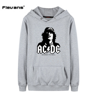 Flevans Band Rock AC DC Sweatshirt Men Hooded 2017 Autumn Winter New Fashion Hoodie Men Fleece