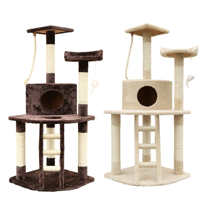 "50"" Cat Tree House Kitten Scratching Post Climbing Tower Condo Furniture Toy Funny Toys 906"