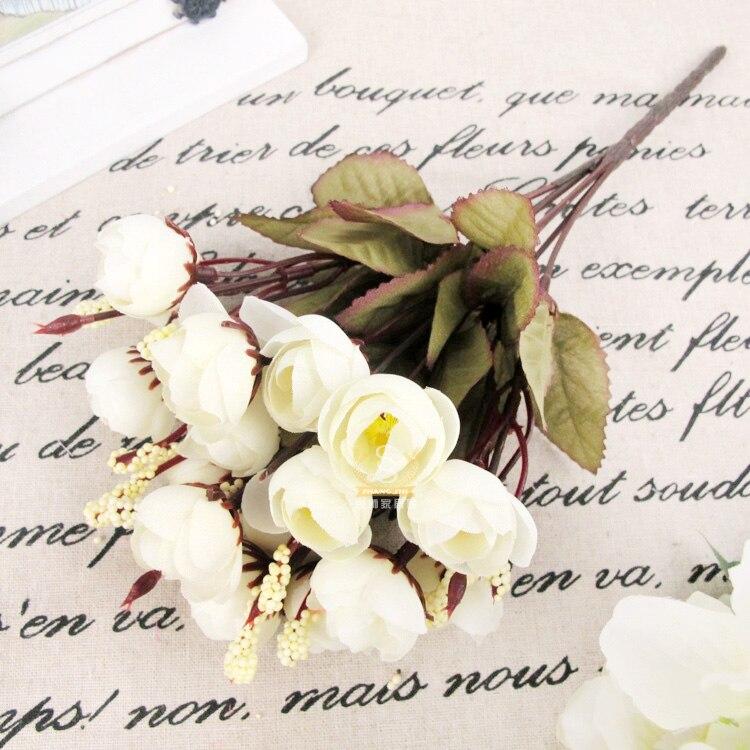 Искусственная красная роза, весенние шелковые цветы, 18 цветочных головок, Цветочная Магнолия, Букет пионов для свадьбы, Прямая поставка