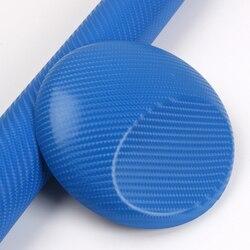 4D z włókna węglowego carwrapping vinilos z pęcherzyków powietrza 1.52x30 m/rolka niebieski na
