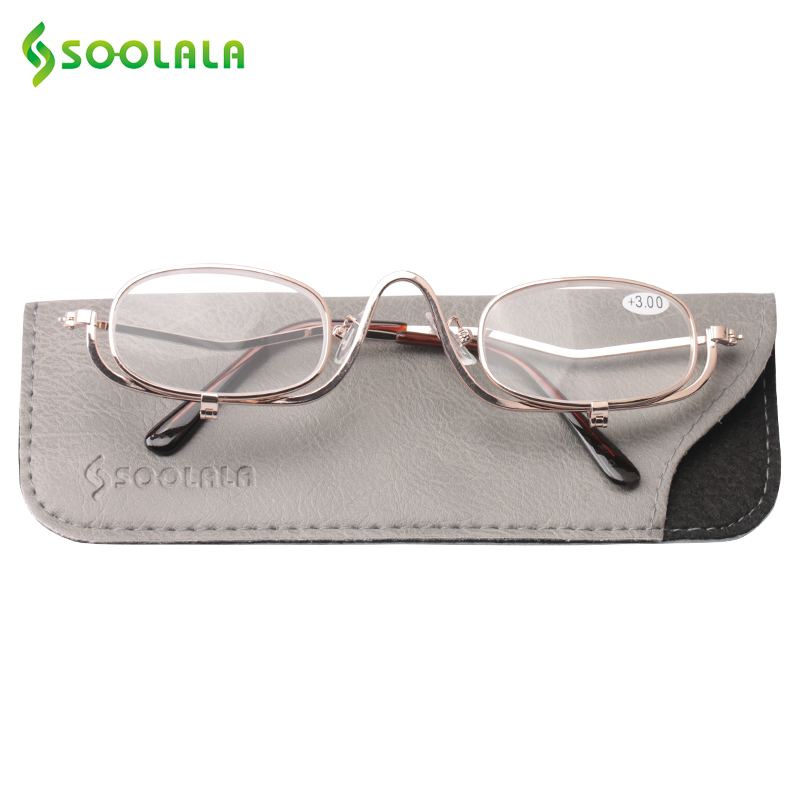 322924f5906 SOOLALA Womens Ultralight Reading Glasses Reader Metal Frame Clip On Makeup Magnifying  Glass Cheap Best Gifts for Mother s Day-in Reading Glasses from ...