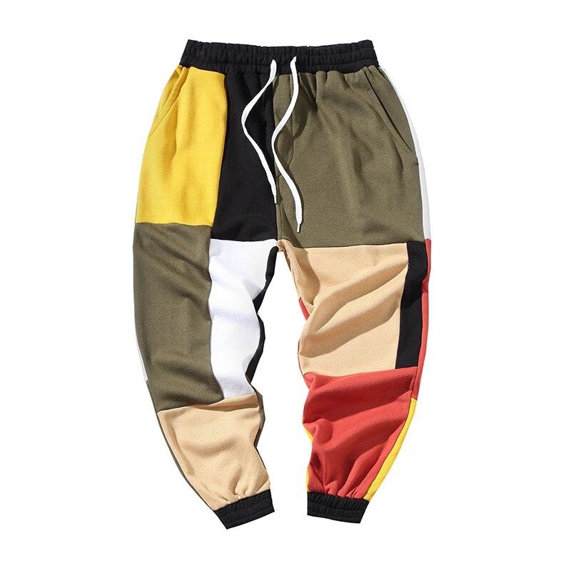 Pantalones Tamaño Color 2019 Vintage Harem Patchwork Algodón Pantalón Moda Hombre Hombres Streetwear Casual De Mens pw6dnqxS