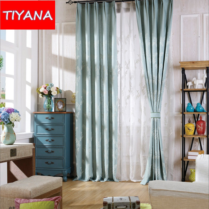 white embroidered leaves window drapes tulle curtains for living room balcony bedroom blackout fabric finely hook