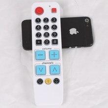 Обучения Пульт дистанционного Управления с подсветкой, большая кнопка контроллер легко использовать для ТВ VCR STB DVD DVB
