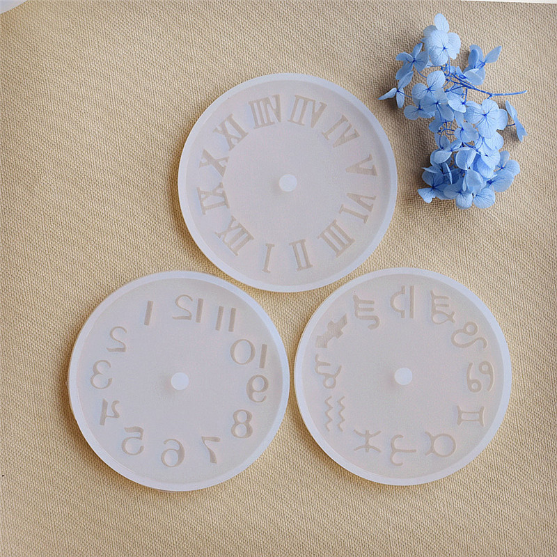 SNASAN Silicone Mold for jewelry 9.8cm small Clock Resin Silicone Mould handmade tool DIY epoxy resin molds acrylic diy resin chapte diy handmade resin soap stamp chapter mini diy patterns z0125sz