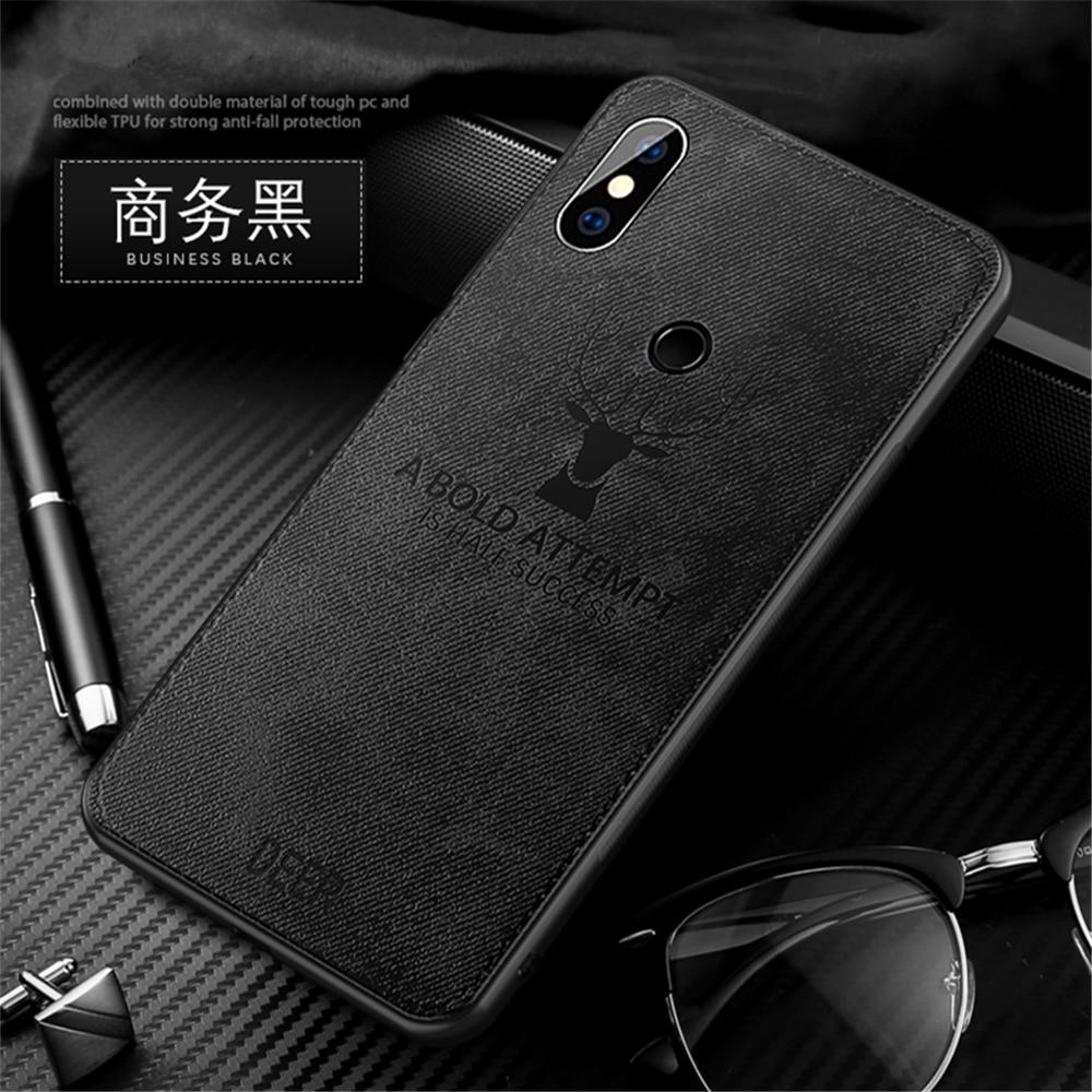 PDGB Rugged TPU Case For Xiaomi Mi 6 8 A1 A2 Lite 5X 6X Max 2 3 Mix 2s Note 3 Redmi 6A 6 Pro Cloth Pattern Cover Elk Deer Shell