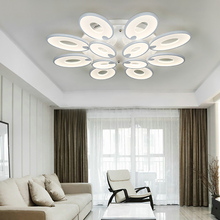 IPROLED 163w CCT and brightness dimmable by 2.4G remote or smart phone app 12pcs flowers surface mounted led ceiling light