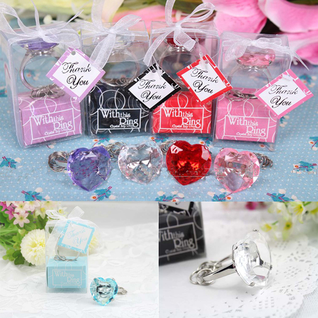 Free shipping 30PCSLOT With this ring Bridal shower favors pink
