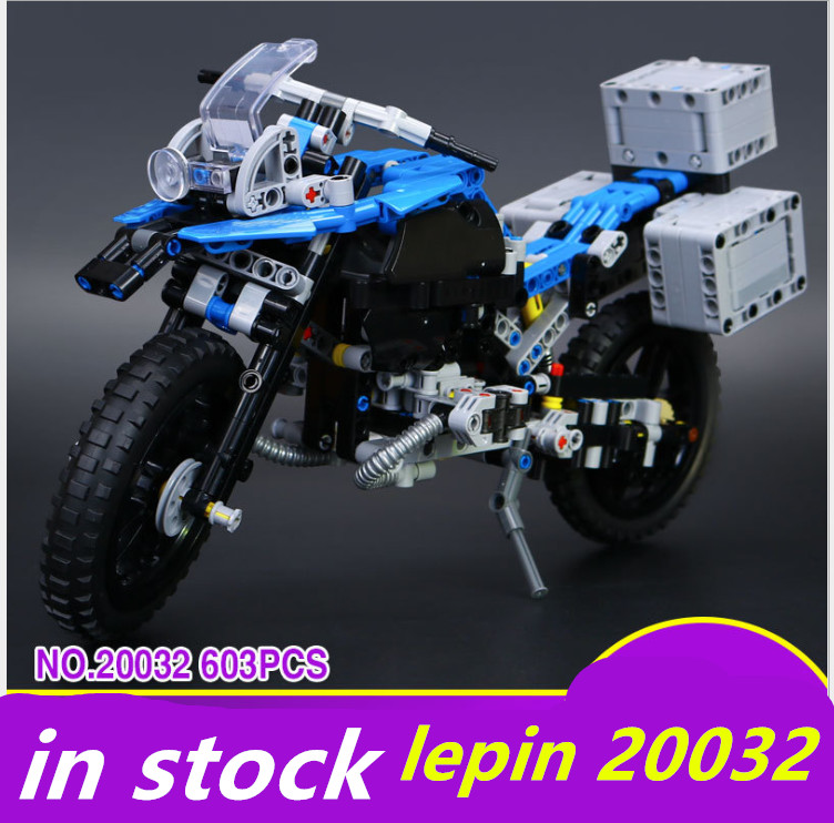 lepin 20032 Technic decool 3368 Off-road Motorcycles R1200 GS Model Building Blocks  Compatible legoing Technic 42063 decoo 3369 technic series the bamw off road motorcycles r1200 gs building blocks bricks educational toys lepin 20032 b11