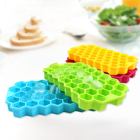 1pc Bairun Silicone Ice Cube Mold Colorful Healthy Ice Cream Makers Cooling Dessert Tool