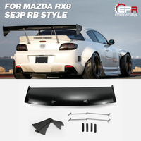 Car Accessories For Mazda RX8 SE3P RB Style FRP Fiber Glass Rear GT Spoiler Fiberglass Trunk Wing With Accessories Tuning Kit