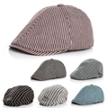 Cute !! Baby Stripe Design England Style Fashion Cap Summer Berets Baby Hat Boy Caps For Child Girl Berets Kids Hats