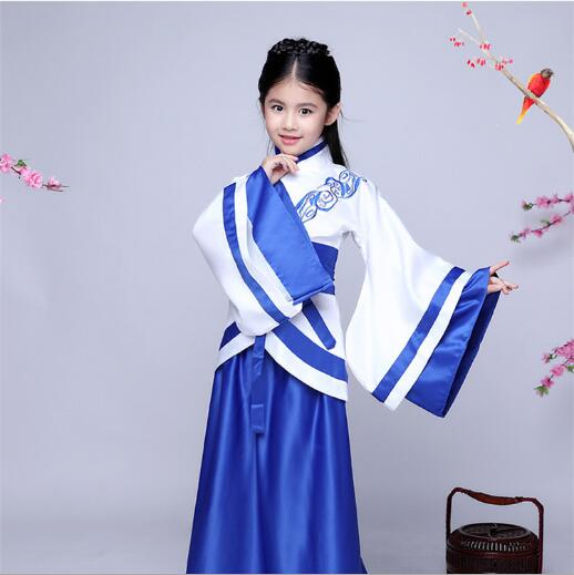 2018 Spring children folk perform costume chinese classical hanfu ancient chinese literature style nunnery costume girls dress gold cloth insert comb classical costume the bride hair accessory hanfu cheongsam accessories