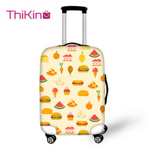 Thikin Hamburger Travel Luggage Cover Cate School Trunk Suitcase Protective Bag Protector