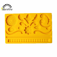 2016 NEW Flower Lace 3D Silicone Cake Cookie Mold Biscuit Cream Candy Fondant Mould Cake Decoration