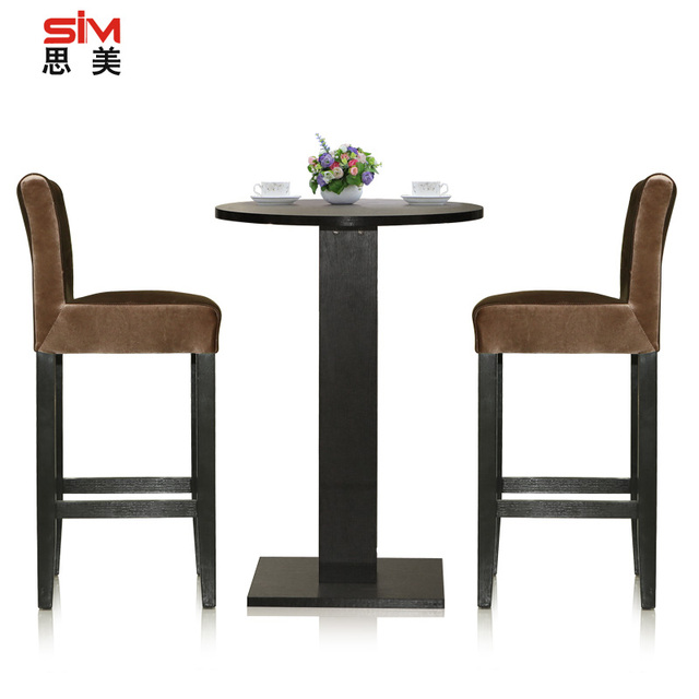 US High Bar Tables Table Legs Tall Round Black Wooden