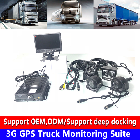 hd sd cartao de gravacao ciclica 4 vias visao noturna 3g gps caminhao monitoramento kit