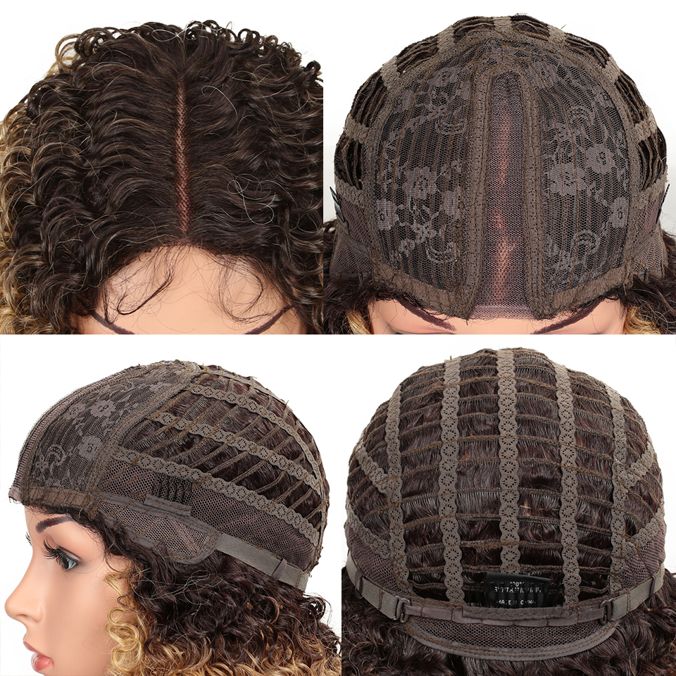 MAGIC Hair Lace Wigs Synthetic Hair For Black Women 26 Inch Long Kinky Curly Blond Color Wigs Heat Resistant Fiber Daily Party in Synthetic None Lace Wigs from Hair Extensions Wigs