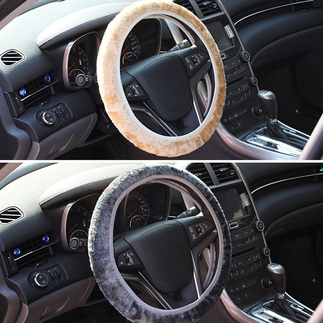 Soft Warm Plush Winter Car Steering-Wheel Cover Elastic Universal Steering Wheel Cover Auto Supplies Cars Accessories CSL2017