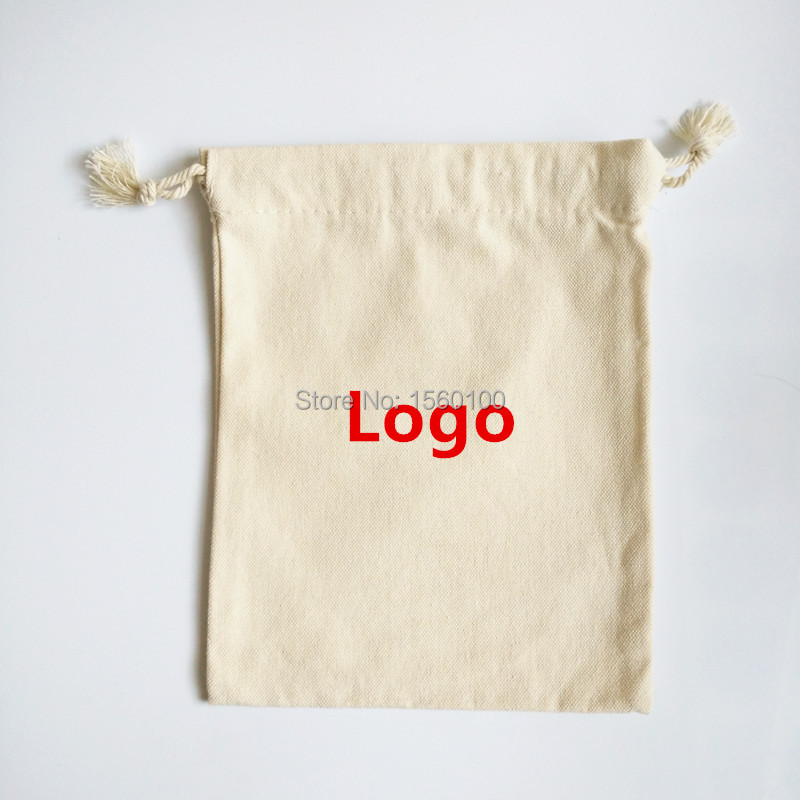 Customized Cotton drawstring bag (100pcs/lot) 15x20cm promotional gift bag eco-friendly bag for packaging