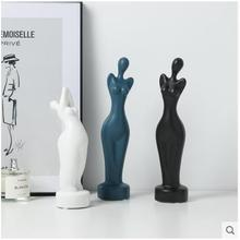 Nordic ceramic Naked girls lady beauty statue home decor crafts room decoration ornament porcelain figurines wedding decorations