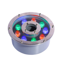Wholesale RGB led fountain lamp 6W 9W 18W 24W led circle fountain lamp 6w ring led fountain light AC DC 12V 24V IP68 Ourdoor|LED Underwater Lights|   -