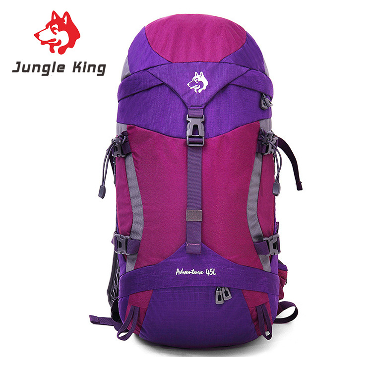 Фотография JungleKing 2017 new men and women sports and leisure bags 45L outdoor mountaineering bags outdoor camping backpacks shoulder bag