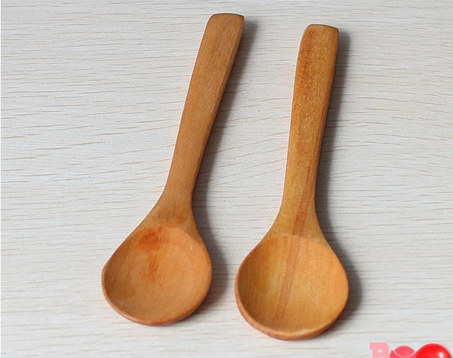 2PC/LOT Handmade Wooden Spoon Kitchen Cooking Utensil Tool Coffee Soup  Dessert New Arrival KC 1426