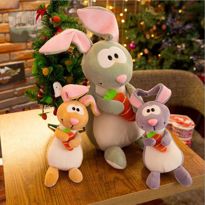 New Style Rabbit Hug Carrot Plush Toy Feather Cotton Lovely Doll Gift For Children & Friends