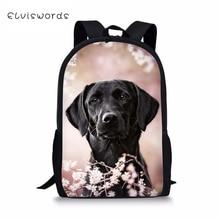 ELVISWORDS Fashion Kids Backpack Flower Labrador Pattern Children Book Bags  Toddler Boys Girls School Travel