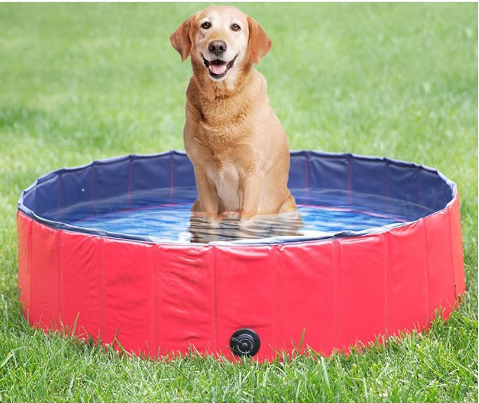 30*10cm Foldable Pet Dog Cat Baby Swimming Summer Pool Hard Plastic Foldable Collapsible Paddling Dog Pet Pool Foldable
