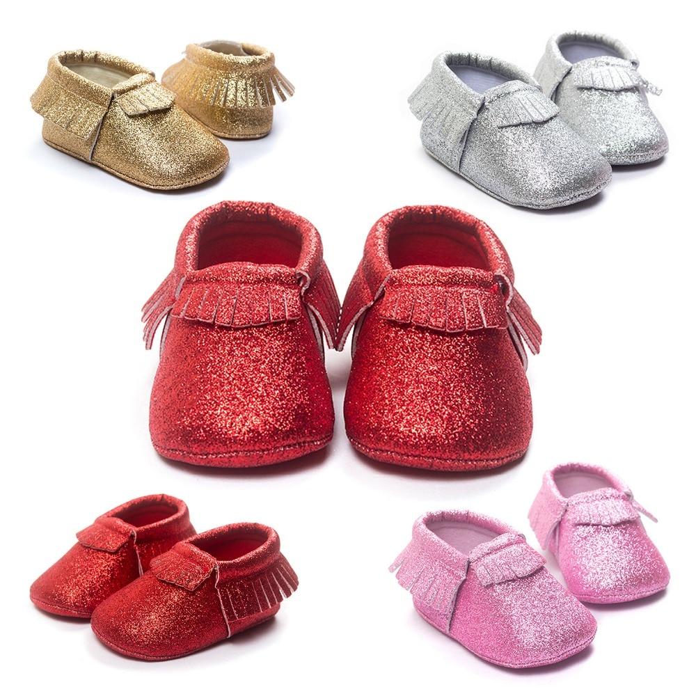 baby sko superstar bling bling moccasiner piger drenge toddler spædbarn baby sko til baby første vandrere hot moccs.CX30C