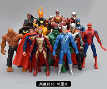 Movable Avenger Alliance DC Justice Alliance Toy Decoration Combination Model US Captain Spider Man Iron Man