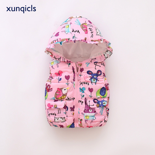 48f843ce08ad xunqicls 1 5Y Baby Girls Warm Waistcoats Autumn Winter Kids Vest ...