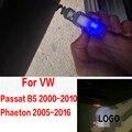 Accesorios de auto para volkswagen vw passat b5 b5.5 faetón logo emblema de proyección de láser puerta de la lámpara auto luces led