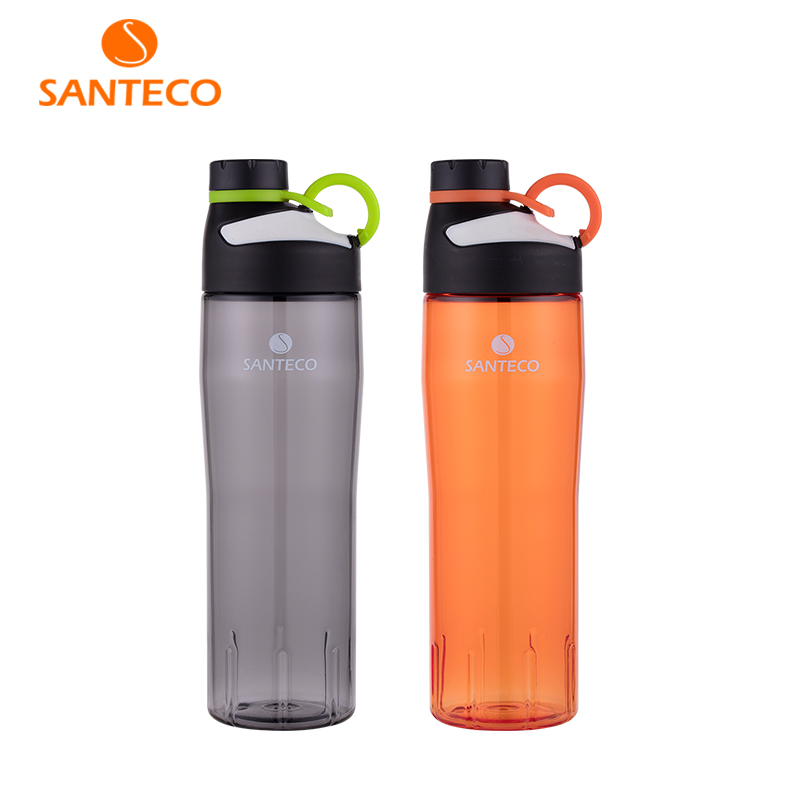 Santeco Oural Series Lightweight Water Bottle BPA-free Tritan Flask Sports With O-ring handle 740ml