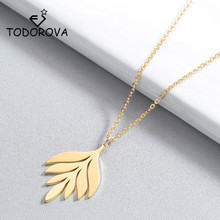 Todorova Geometric Leaf Branch Pendant Necklace Fashion Jewelry Ethnic Vintage Choker Necklaces for Women Party Accessories