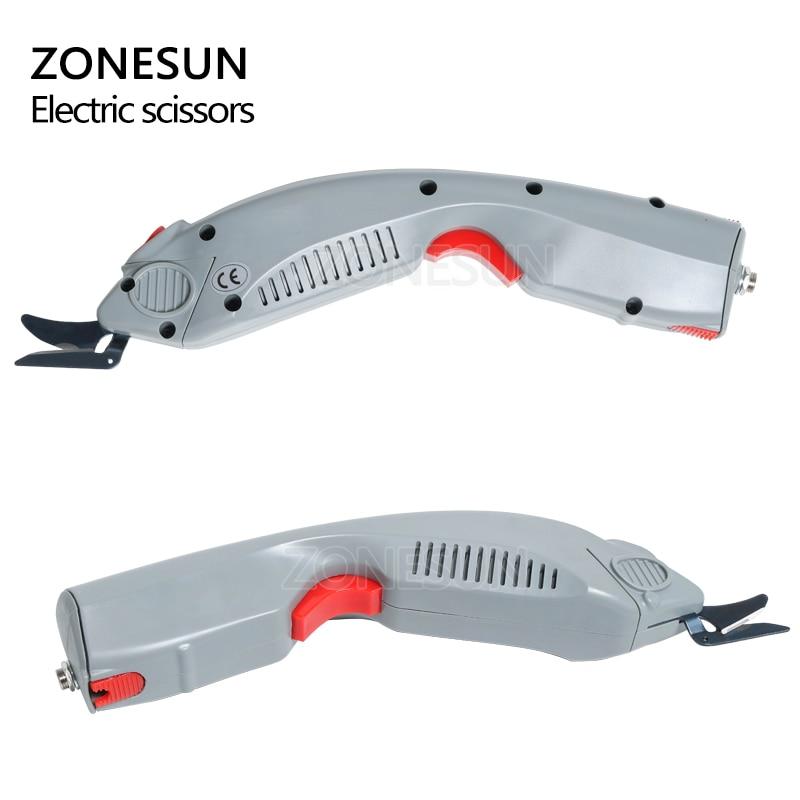 ZONESUN outil de coupe du papier, ciseaux électriques sans fil, coupe papier, valise en cuir, tissu, outil de coupe du coffre - 4