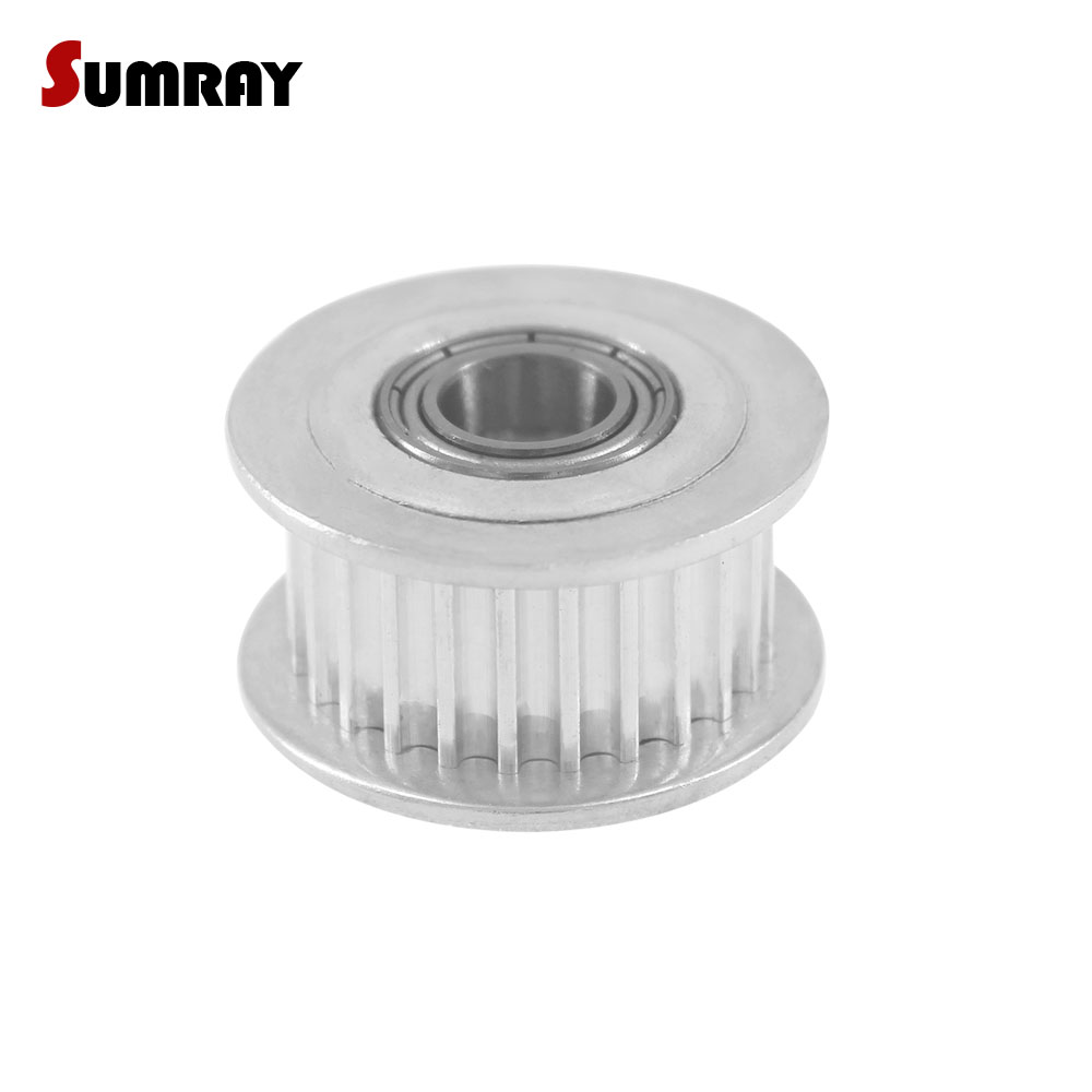 SUMRAY GT2 30T Idler Timing Pulley with teeth Bore 3/4/5/6mm Motor Belt Pulley 7/10mm Belt Width Stepper Motor Pulley цены онлайн