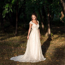 RiLynda Vestido de Noiva 2019 Wedding Dresses V-neck